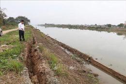 Nơm nớp lo vỡ đê hữu sông Vạc ở Ninh Bình