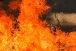 Cháy lớn tại xưởng ươm cây giống ở Đà Lạt