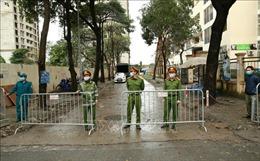 Bảo đảm an ninh trật tự phục vụ cách ly tại quận Hoàng Mai, Hà Nội