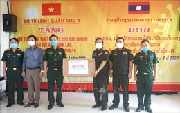 Bộ Tư lệnh Quân khu 4 trao tặng vật tư y tế cho Quân đội nhân dân Lào