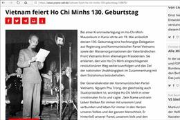 Báo Đức trang trọng đưa tin kỷ niệm 130 năm Ngày sinh Chủ tịch Hồ Chí Minh