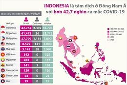 Indonesia là tâm dịch ở Đông Nam Á với trên 42.700 ca mắc COVID-19