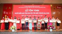 Tôn vinh 181 gia đình và cá nhân hiến máu tình nguyện tiêu biểu Thủ đô 2020