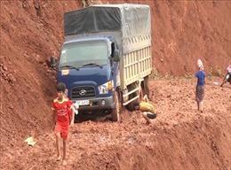 Mưa to ở Sơn La, nhiều tuyến đường ngập úng và sạt lở đất