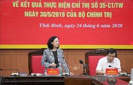 Đoàn công tác của Ban Bí thư Trung ương Đảng làm việc tại Thái Bình