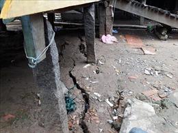 Nứt bờ Tây sông Hậu, 11 hộ dân An Giang phải di dời khẩn cấp