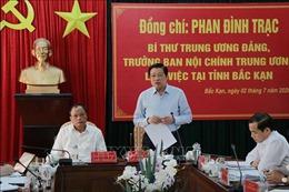 Bí thư Trung ương Đảng Phan Đình Trạc làm việc với tỉnh Bắc Kạn