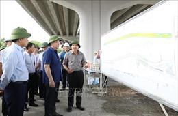Bí thư Thành ủy Hà Nội thị sát tiến độ các dự án giao thông trọng điểm