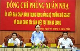 Bộ trưởng Phùng Xuân Nhạ: Hà Giang cần triển khai nghiêm túc, hiệu quả kỳ thi tốt nghiệp THPT