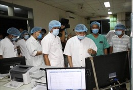 Kiểm tra công tác điều trị bệnh nhân COVID-19 tại Bệnh viện Trung ương Huế