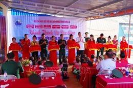 Bộ đội Biên phòng chung tay xây dựng điểm trường vùng biên