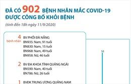 Đã có 902 bệnh nhân mắc COVID-19 được công bố khỏi bệnh