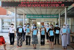 24 bệnh nhân COVID-19 tại Quảng Nam và Hải Dương xuất viện