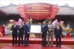 Hải Dương: Lễ hội đền Quát được công nhận là di sản văn hóa phi vật thể quốc gia