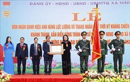 Trao danh hiệu Anh hùng lực lượng vũ trang tặng xã Ninh Hiệp, Hà Nội