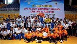 Bế mạc giải vô địch Vovinam toàn quốc lần thứ 27