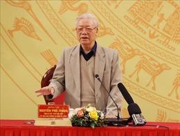 Tổng Bí thư, Chủ tịch nước Nguyễn Phú Trọng dự Hội nghị của Đảng ủy Công an Trung ương