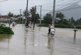 Mưa lớngây ngập cục bộ và sạt lở tại tỉnhKhánh Hòa