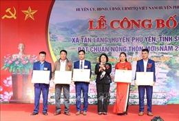 Xã miền núi Tân Lang (Sơn La) đạt chuẩn nông thôn mới