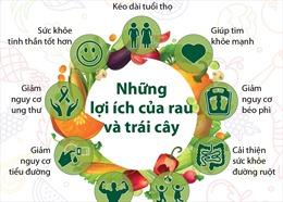 Năm Quốc tế về rau và trái cây năm 2021: Những lợi ích của rau và trái cây
