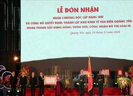 Thị xã Quảng Yên (Quảng Ninh) đón nhận Huân chương Độc lập hạng Nhì