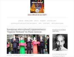 Khai trương trang thông tin điện tử của Hội Hữu nghị Venezuela-Việt Nam