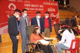 Ngày hội 'Chủ nhật đỏ' tại Hà Tĩnh thu về gần 500 đơn vị máu