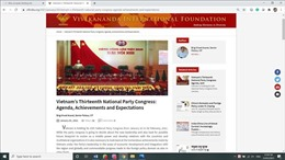 Chuyên gia Ấn Độ: Việt Nam đóng vai trò quan trọng tại các diễn đàn toàn cầu