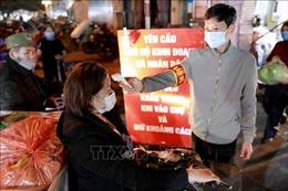 Chợ đầu mối Nam Hà Nội chủ động phòng, chống dịch COVID-19