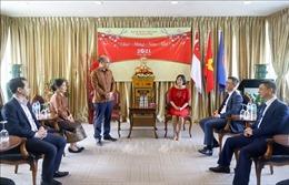Đại sứ quán Lào chúc Tết Đại sứ quán Việt Nam tại Singapore