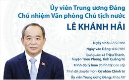Ủy viên Trung ương Đảng, Chủ nhiệm Văn phòng Chủ tịch nước Lê Khánh Hải