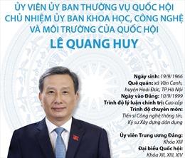 Chủ nhiệm Ủy ban Khoa học Công nghệ và Môi trường của Quốc hội Lê Quang Huy