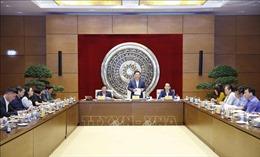 Chủ tịch Quốc hội Vương Đình Huệ làm việc với Thường trực Ủy ban Pháp luật