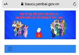 Tỉnh Yên Bái khai trương trang thông tin phục vụ bầu cử