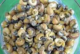 Ngọt, giòn đặc sản ốc gạo cù lao Tân Phong