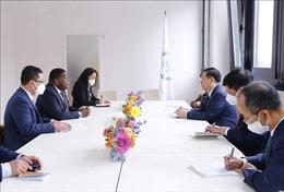 Chủ tịch Quốc hội Vương Đình Huệ tiếp Tổng Thư ký Liên minh Nghị viện thế giới