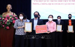 TP Hồ Chí Minh tiếp nhận ủng hộ phòng, chống dịch COVID-19