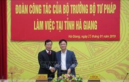 Đoàn công tác Bộ Tư pháp làm việc tại tỉnh Hà Giang