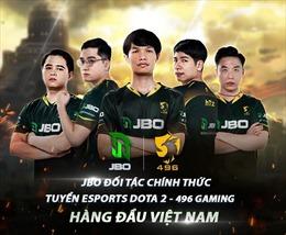 JBO đồng hành cùng 496 Gaming - Đội tuyển Dota2 hàng đầu Việt Nam