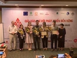 Trao Giải báo chí với phát triển bền vững năm 2019