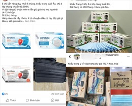 Khẩu trang y tế xuất hiện nhiều trên 'chợ mạng'