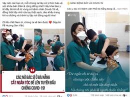 Hình ảnh cảm động về nữ bác sĩ cắt tóc để chống dịch COVID-19 lan truyền mạng xã hội