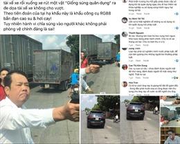 Cộng đồng mạng bất bình với hình ảnh người đàn ông cầm súng đe dọa ở Bắc Ninh