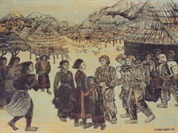 Giới thiệu bức tranh khắc gỗ ý nghĩa về tình quân dân