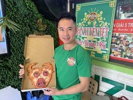 Sáng tạo bánh pizza Tân Sửu lấy cảm hứng từ con trâu