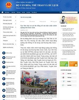 Bộ Văn hóa, Thể thao và Du lịch lên tiếng về quảng cáo 'Mở lon Việt Nam' của Coca - Cola
