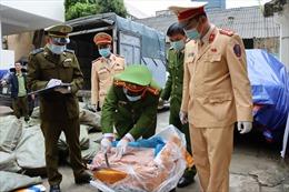 Bắt giữ 3,3 tấn nầm lợn đông lạnh đã bị nấm mốc