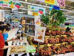 Hàng chục tấn vải thiều đã lên kệ tại siêu thị