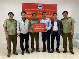 Tổng cục QLTT trao tặng 6 thuyền phục vụ cứu hộ lũ lụt cho Hà Tĩnh