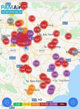 Ô nhiễm không khí Bắc Bộ ở ngưỡng báo động